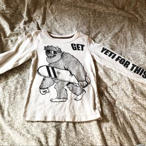 """🛍3 for 25🛍 Carters white """"Get Yeti for this"""" Tee"""
